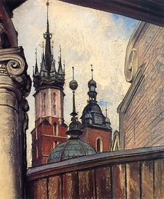 The Athenaeum - The Towers of St Mary's Church (Stanislaw Wyspianski - )