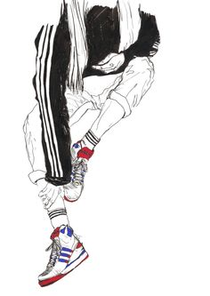 LEE ANN LIU fashion illustration adidas sneakers