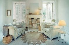White chesterfield sofas! by maude