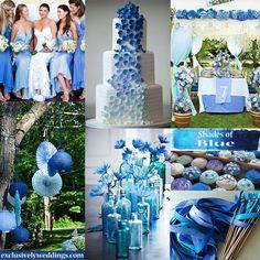 multiple blue shades wedding   Pin it Like Image