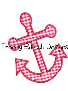 Anchor Applique Design Machine Embroidery Design INSTANT DOWNLOAD