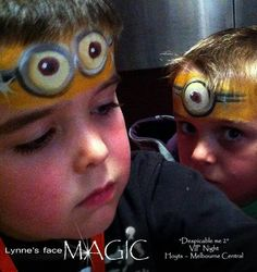 Despicable me face paint great idea for movie events you xan get the paints here: http://www.facepaint.com/117.html