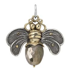 Bee Brave Pendant - Pyrite