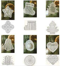 DIY Handmade: 17 wzorów i schematów - szydełkowe ozdoby na choinkę