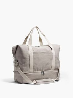 The Catalina Deluxe – Washed Canvas – Dove Grey – Large The Catalina Deluxe Large – Large Canvas Weekender – Designed by Lo & Sons Packing Shoes, Canvas Weekender Bag, The Lone Ranger, Travel Bags For Women, Travel Tote, Travel Luggage, Living At Home, Drop, Leather Backpack