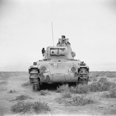 BRITISH ARMY NORTH AFRICA (E 9558)   A Matilda tank, March 1942.