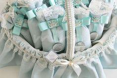 Lavanta Kesesi Bebek Şekeri - Mavi-Beyaz