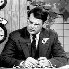 """Jane, you ignorant slut. Best Of Snl, Snl Cast Members, Snl News, Snl Skits, New Girl Quotes, Weekend Update, Star Show, Funny Boy, Nick Miller"