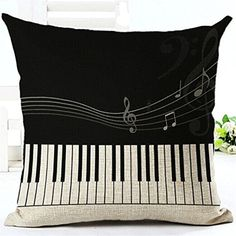 Venzhe Piano Score Pillow Case Cushion Cover Sofa Car Chair Moliday Throw Pillowcase Wedding Decorative 18x18 Inch - Pattern 2 -- Awesome products selected by Anna Churchill