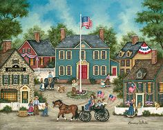 Bonnie White  Americana Folk Art