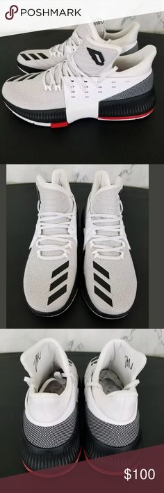 timeless design fcfd1 72d70 Adidas Dame White Basketball Shoes Sz 10 Mens Adidas Dame 3 RIP City  Damian Lillard White