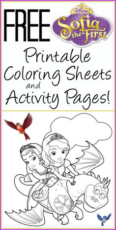 free printable sofia the first coloring pages activity sheets - Printables Kids