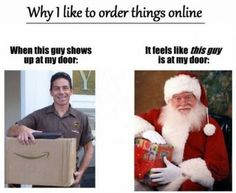 Funny pictures about The best part of ordering stuff online. Oh, and cool pics about The best part of ordering stuff online. Also, The best part of ordering stuff online photos. Memes Humor, Funny Memes, Amazon Delivery, Delivery Man, Funny Captions, I Can Relate, Story Of My Life, Retail Therapy, Just For Laughs