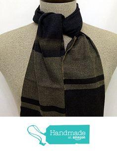 Scarf brown striped wool - SC209 from Nazo Design https://www.amazon.com/dp/B01FOO4B7O/ref=hnd_sw_r_pi_dp_0FQ5xb841397Q #handmadeatamazon #nazodesign