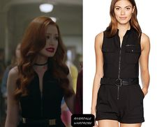"Cheryl Blossom wears this Guess ""Axel"" romper on Riverdale Cheryl Blossom Riverdale, Riverdale Cheryl, Fashion Tv, Fashion Wear, Fashion Outfits, Fashion Clothes, Tv Show Outfits, Cute Outfits, Veronica Lodge Outfits"