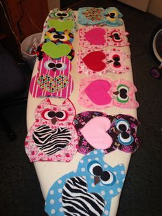 I Love Sewing..  Owl Rice Heat Packs
