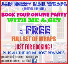 Book a Jamberry party | FREE Jamberry wraps |   Jamberry uk @ lulu beaut | #lulubeautjams