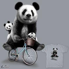 pandas en bicicleta