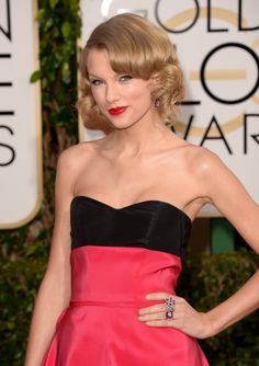 Taylor Swift at the Golden Globes.