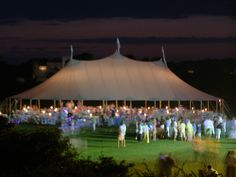 Night time in the Hamptons! Wedding or event. Sperry has you covered