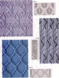 Eyelet Cable Stitch Knitting Patterns with Charts