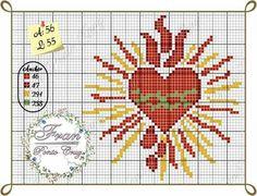 Sagrado Christmas Embroidery, Diy Embroidery, Cross Stitch Embroidery, Cross Stitch Patterns, Small Cross Stitch, Cross Stitch Heart, Modern Cross Stitch, Cross Stitch Tattoo, Faith Crafts