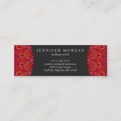 Shop Red Floral Mandala Mini Business Card created by ZyddArt. Elegant Business Cards, Business Card Design, Print Templates, Card Templates, Print Design, Graphic Design, Card Card, Mandala, Graphics