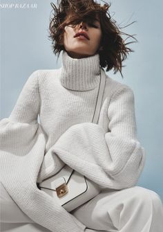 From - Victoria Beckham Round Sleeve Jumper in Harper's Bazaar Germany by c__l__o Beige Outfit, Knit Fashion, Fashion Show, Fashion Tips, Fashion Hacks, Fashion Photography Inspiration, Style Inspiration, Fashion Gone Rouge, Merian