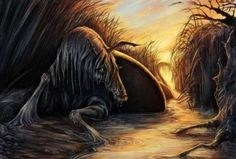 The Four Cycles Of Irish Mythology tells the stories of Ireland's first settlers, warriors, creatures, and even magic. Read more about Irish Mythology. Magical Creatures, Fantasy Creatures, Kelpie Horse, Irish Mythology, Roman Mythology, Myths & Monsters, Sea Monsters, Legends And Myths, L5r