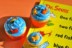 One Fish, Two Fish, Red Fish, Blue Fish Cupcakes