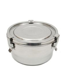 "LIFE WITHOUT PLASTIC (website)  Stainless Steel Airtight Watertight Food Storage Container, 12 cm (4.75"")"