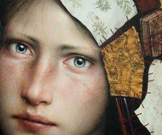 DINO VALLS - NIGREDO Óleo y pan de oro / tabla 62,5 x 48 cm. 2010