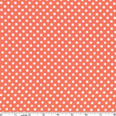 Sarah Jane - Children at Play - Dot to Dot in Coral    Would love to make a vintage dress in this print.