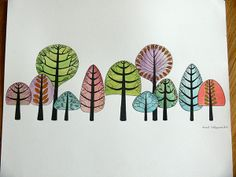Forest by Isabel Valfigueira, via Behance