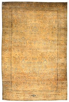 An early 20th century Persian Kirman (Kerman) antique rug, the rust field with a delicately-drawn overall design of indigo and cream leafy vines and floral motifs within a rust floral motif border. Watch full size video of A Persian Kirman rug, Circa 1900, ID BB3831 - Video
