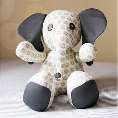 Flora Elephant Stuffed Animal Sewing Pattern