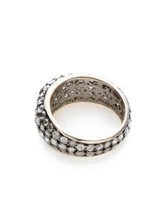 Rose Cut Diamond Domed Band Ring by Sethi Couture at Gilt
