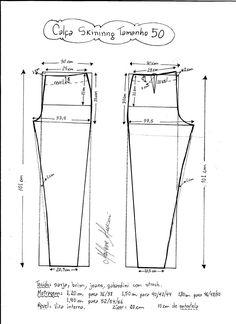 Patrón de pantalones ajustados - Patrones gratis - Tesettür Tunik Modelleri 2020 - Tesettür Modelleri ve Modası 2019 ve 2020 Dress Sewing Patterns, Sewing Patterns Free, Clothing Patterns, Sewing Tutorials, Sewing Pants, Sewing Clothes, Diy Clothes, Jumpsuit Pattern, Pants Pattern