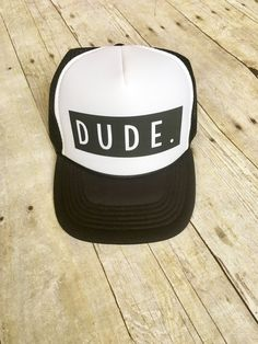 c81b08e3a0e Kids dude trucker hat Spring Crafts