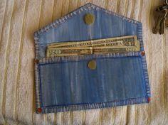 Make A Denim Purse With Cardboard