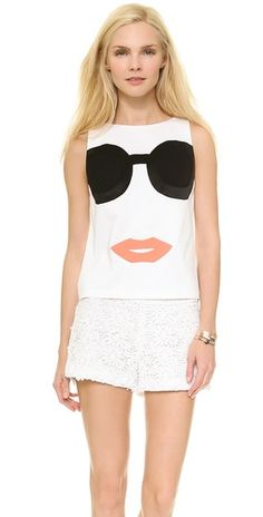 alice + olivia Stace Face Tank | SHOPBOP