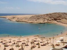 The Red Sea Coast in Hurghada, Egypt. #Egypt #Hurghada #Resorts #Trips