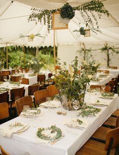 Foliage based glamourous marquee wedding in New Zealand
