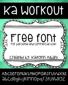 Free Font for Teachers! Personal and Commercial Use!