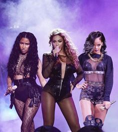 beyoncé, rihanna, and nicki minaj image