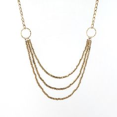 """Tista Necklace ($52) - This handmade brass necklace will brighten any outfit! It is made by women working in a fair-trade cooperative in India, giving themselves and their families economic stability. 34"""""""