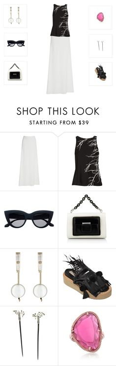 """""""A touch of pink-Un toque rosa"""" by mfpblau ❤ liked on Polyvore featuring Rime Arodaky, Halston Heritage, Balenciaga, Monique Péan, N°21, Alexis Bittar and Ross-Simons"""