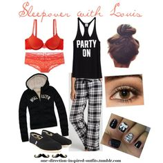 Inspired - Sleepover with Louis, created by one-direction-inspired-outfits on Polyvore