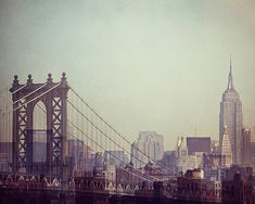 SALE Manhattan Bridge and Empire State by EyePoetryPhotography, $24.00