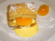 Milhojas de naranja y crema. Restaurante Portoles. #jornadasPOPCastellón